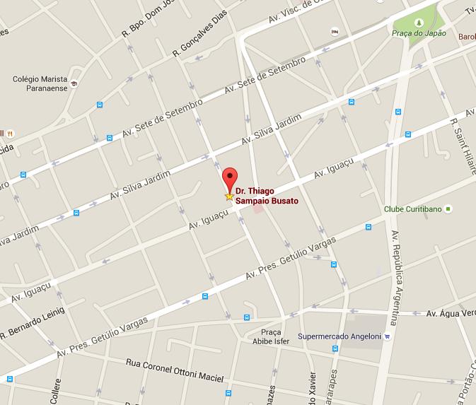 Mapa - Dr. Thiago S. Busato
